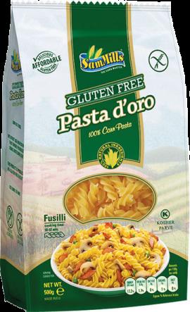 PASTA D'ORO gluten-free roll of 500 g