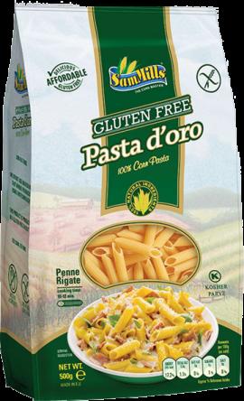 PASTA D'ORO gluten-free penne 500g
