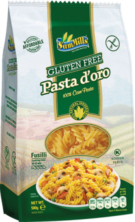 PASTA D'ORO gluten-free worm 500g